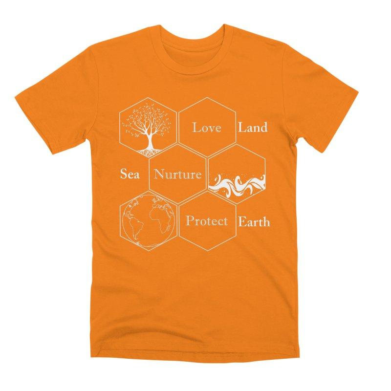 Land Sea Earth WL Men's T-Shirt by FashionedbyNature's Artist Shop
