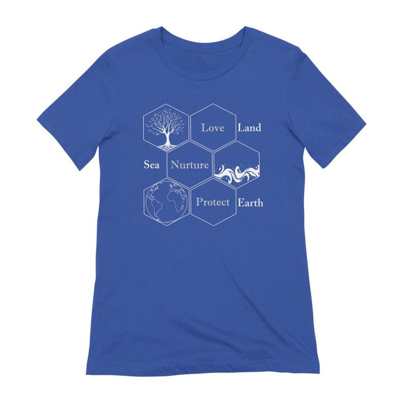 Land Sea Earth WL Women's Extra Soft T-Shirt by FashionedbyNature's Artist Shop