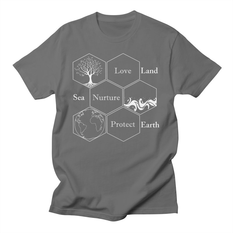 Land Sea Earth WL Men's T-Shirt by All Fashioned by Nature Artist Shop