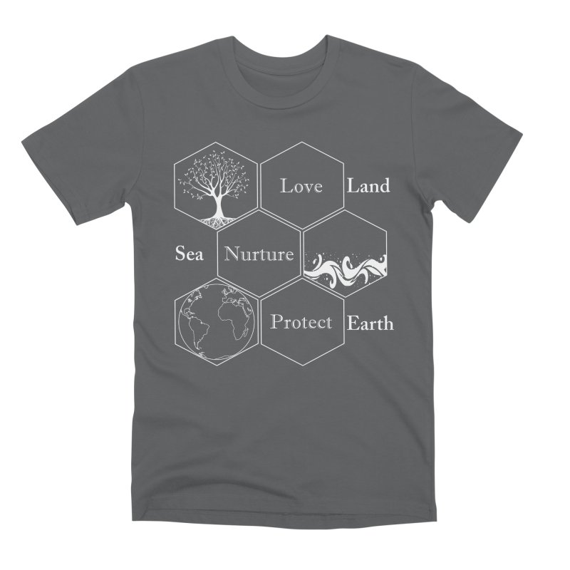 Land Sea Earth WL Men's Premium T-Shirt by FashionedbyNature's Artist Shop