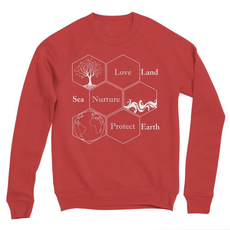 Land Sea Earth WL Men's Sponge Fleece Sweatshirt by FashionedbyNature's Artist Shop