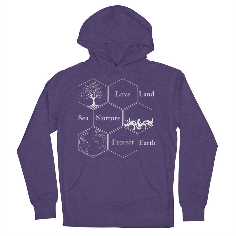 Land Sea Earth WL Women's French Terry Pullover Hoody by FashionedbyNature's Artist Shop