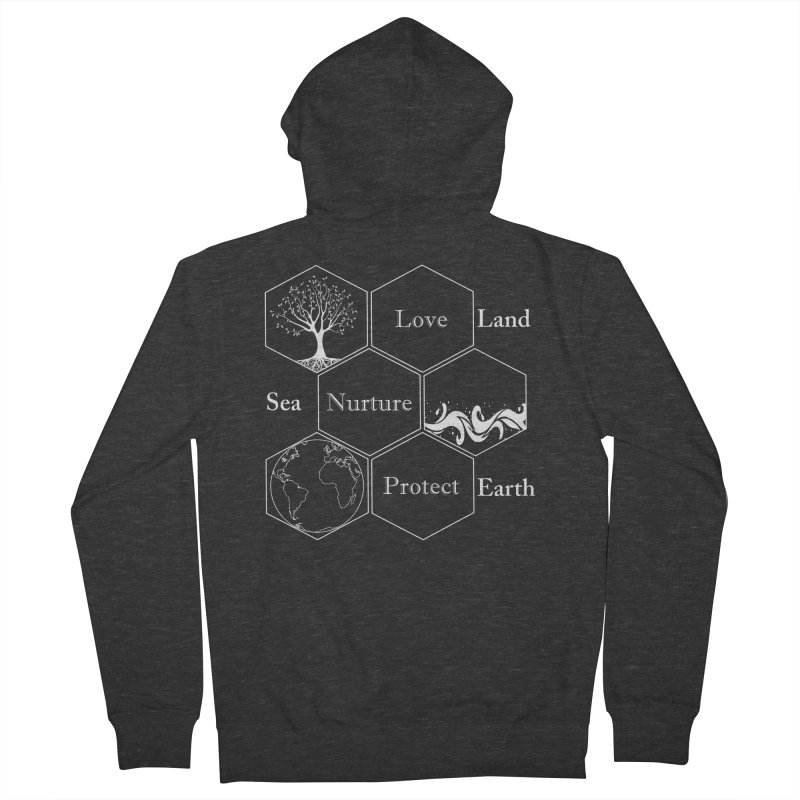Land Sea Earth WL Women's French Terry Zip-Up Hoody by FashionedbyNature's Artist Shop