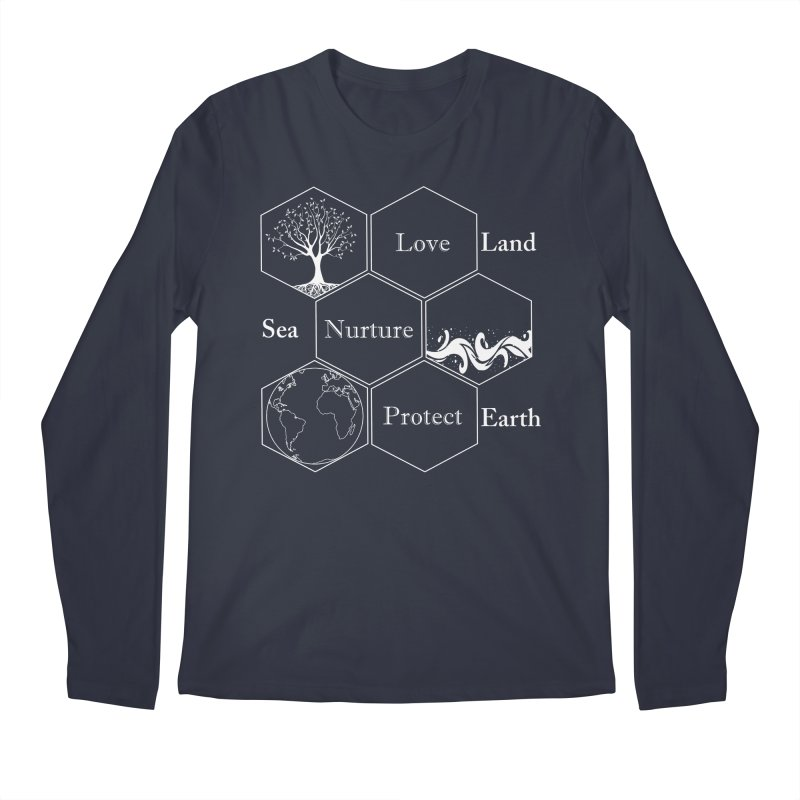 Land Sea Earth WL Men's Regular Longsleeve T-Shirt by FashionedbyNature's Artist Shop