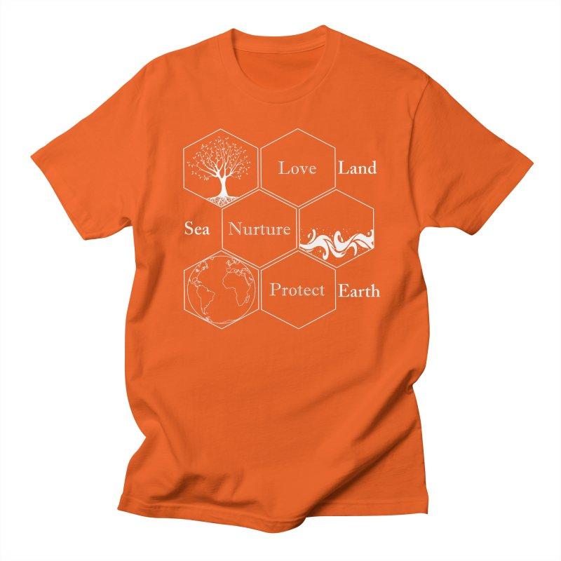 Land Sea Earth WL Men's Regular T-Shirt by FashionedbyNature's Artist Shop
