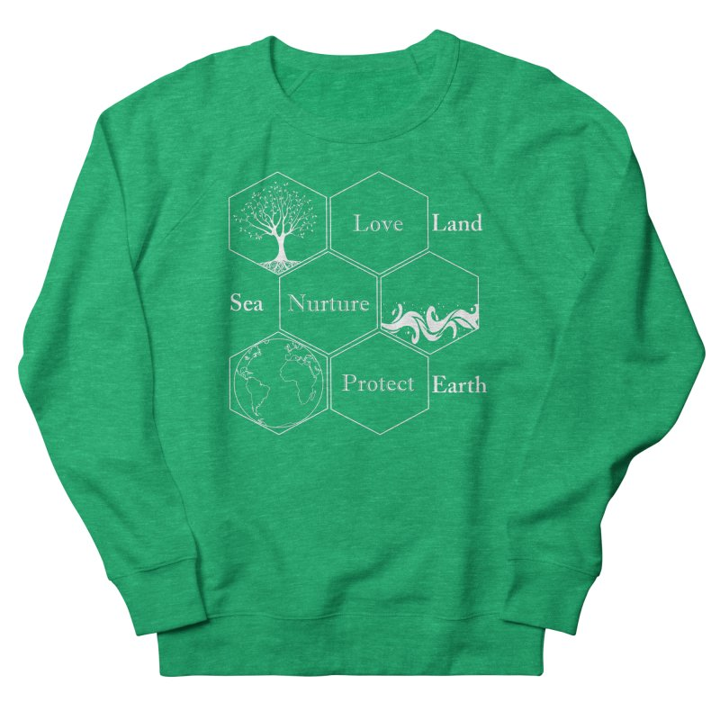 Land Sea Earth WL Women's Sweatshirt by All Fashioned by Nature Artist Shop