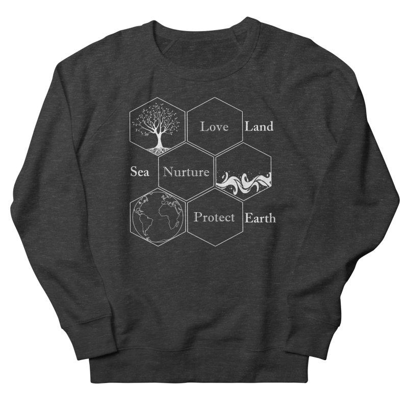 Land Sea Earth WL Men's French Terry Sweatshirt by FashionedbyNature's Artist Shop