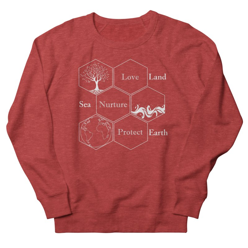 Land Sea Earth WL Men's French Terry Sweatshirt by FashionedbyNature's Artist Shop