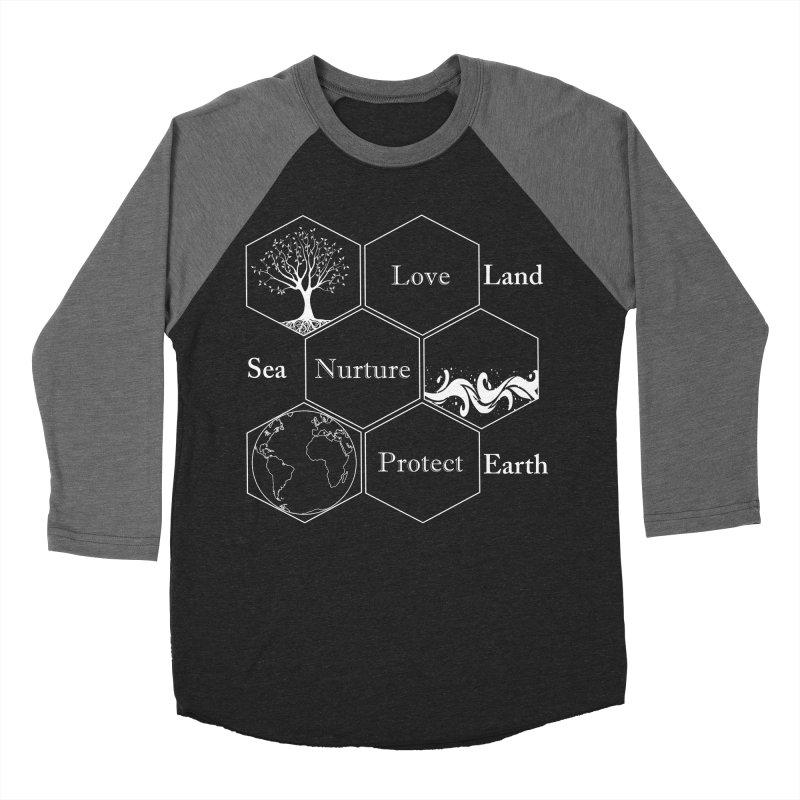 Land Sea Earth WL Men's Baseball Triblend Longsleeve T-Shirt by FashionedbyNature's Artist Shop