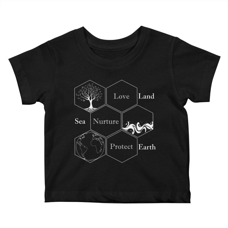 Land Sea Earth WL Kids Baby T-Shirt by FashionedbyNature's Artist Shop