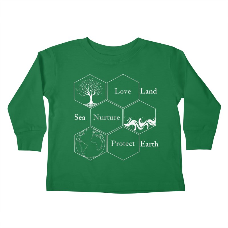 Land Sea Earth WL Kids Toddler Longsleeve T-Shirt by FashionedbyNature's Artist Shop