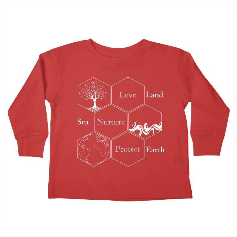 Land Sea Earth WL Kids Toddler Longsleeve T-Shirt by FashionedbyNature's Artist Shop