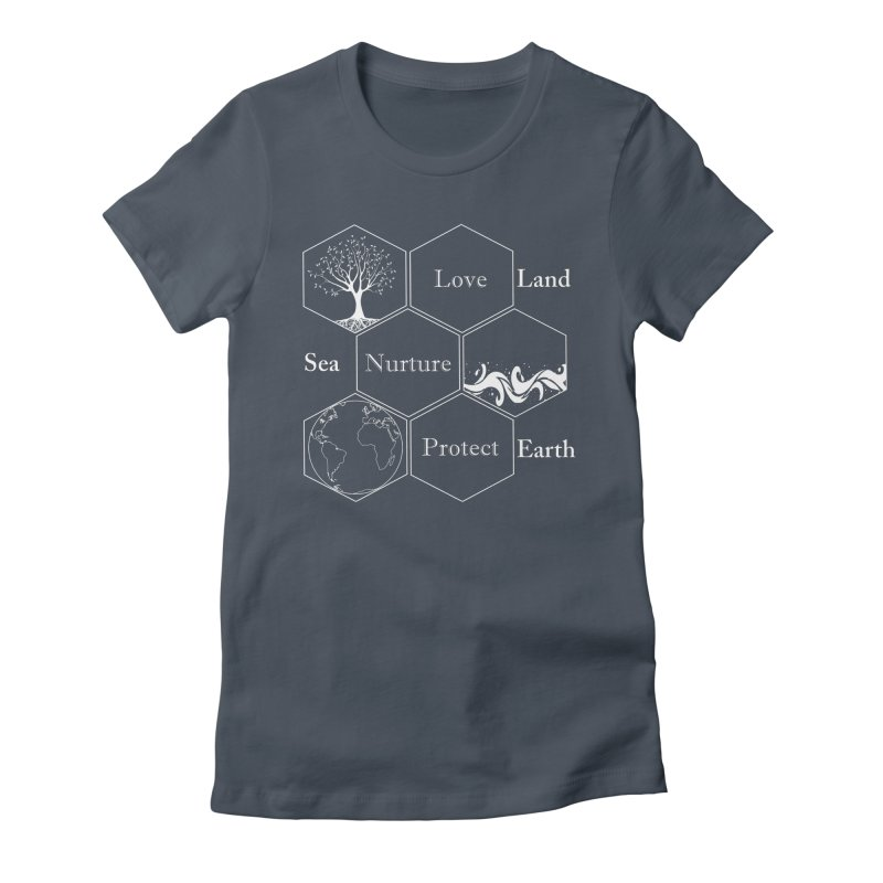 Land Sea Earth WL Women's T-Shirt by All Fashioned by Nature Artist Shop