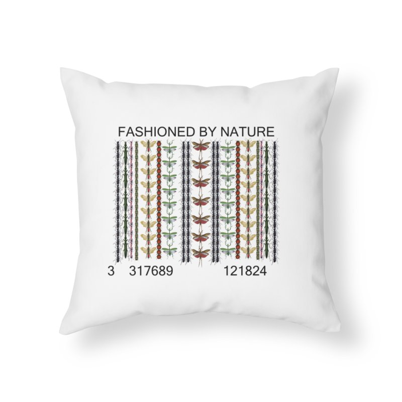 Bug Barcode Home Throw Pillow by FashionedbyNature's Artist Shop