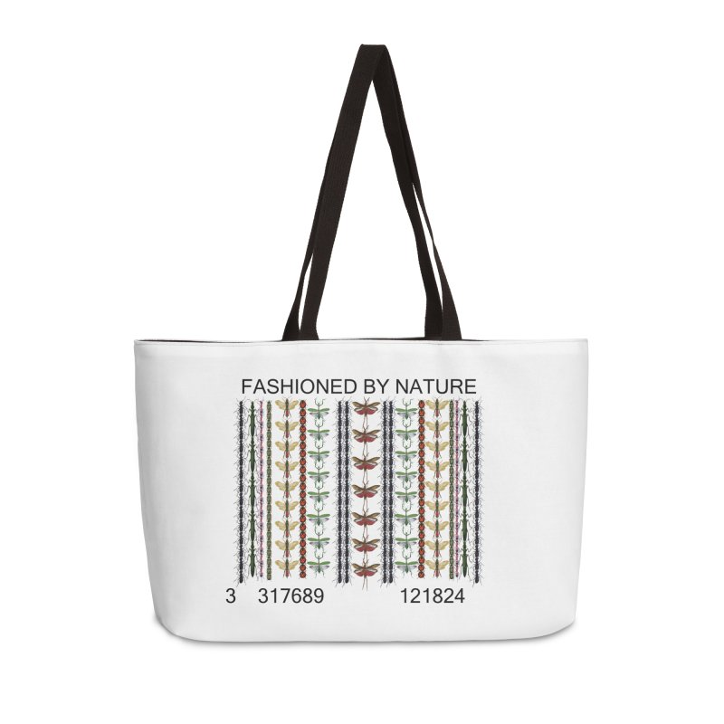 Bug Barcode Accessories Weekender Bag Bag by FashionedbyNature's Artist Shop