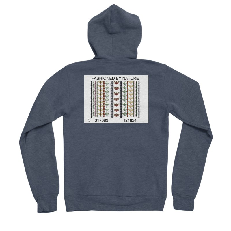Bug Barcode Men's Sponge Fleece Zip-Up Hoody by FashionedbyNature's Artist Shop