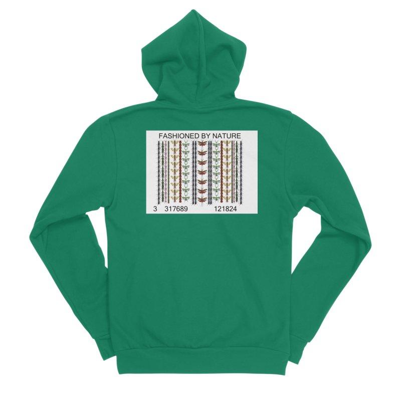Bug Barcode Women's Sponge Fleece Zip-Up Hoody by FashionedbyNature's Artist Shop