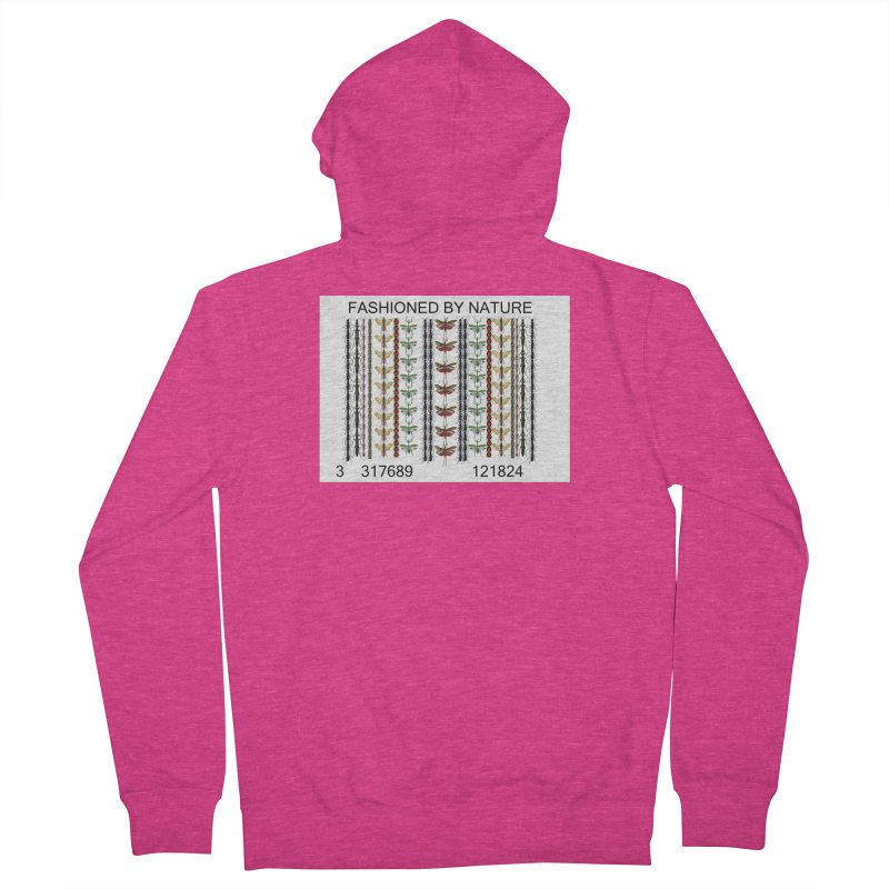 Bug Barcode Women's French Terry Zip-Up Hoody by FashionedbyNature's Artist Shop