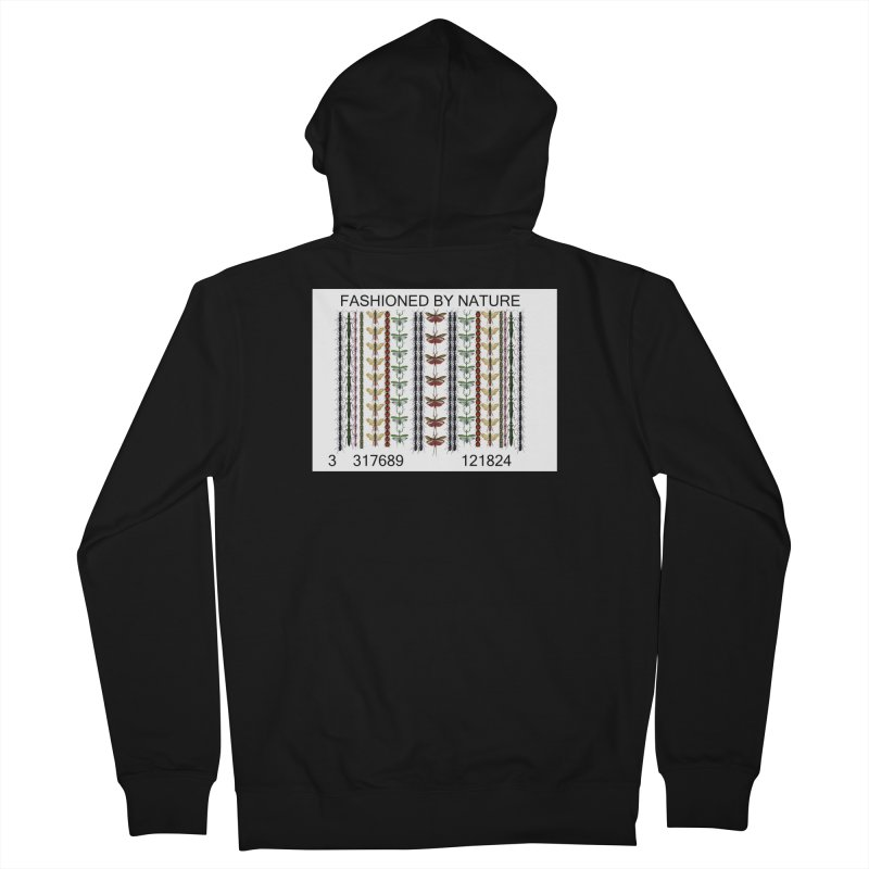 Bug Barcode Men's French Terry Zip-Up Hoody by FashionedbyNature's Artist Shop