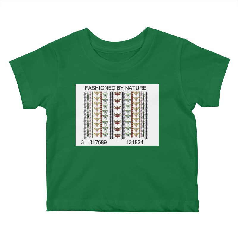 Bug Barcode Kids Baby T-Shirt by All Fashioned by Nature Artist Shop