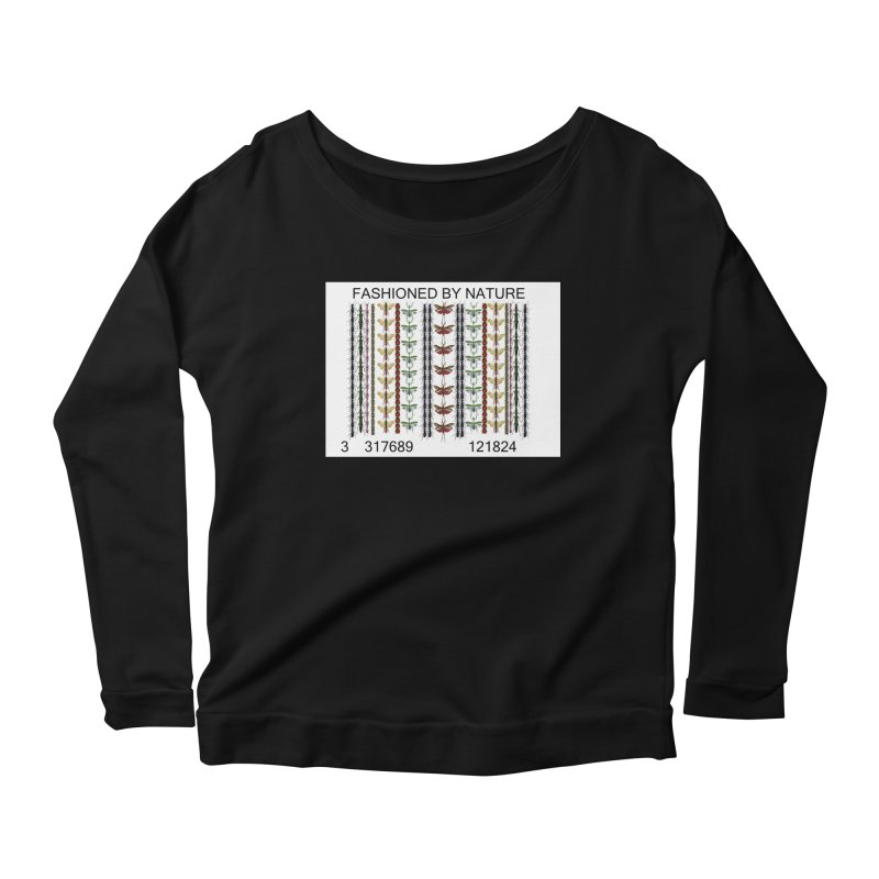 Bug Barcode Women's Scoop Neck Longsleeve T-Shirt by FashionedbyNature's Artist Shop