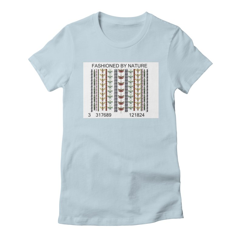 Bug Barcode Women's Fitted T-Shirt by FashionedbyNature's Artist Shop