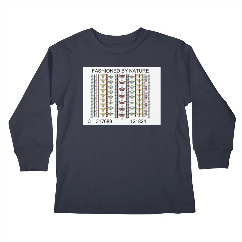 Bug Barcode Kids Longsleeve T-Shirt by All Fashioned by Nature Artist Shop