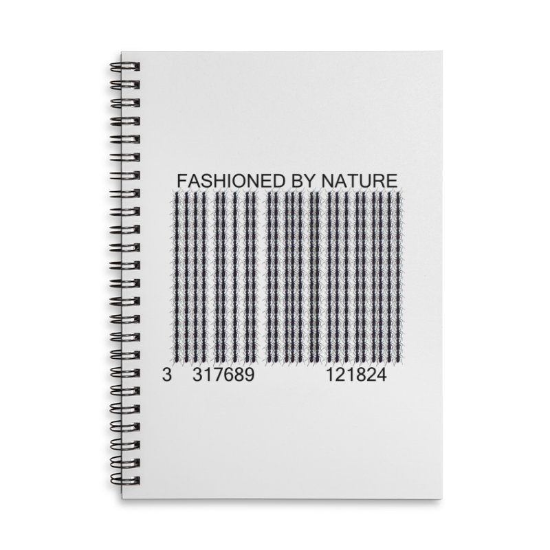 Ant Barcode Accessories Lined Spiral Notebook by FashionedbyNature's Artist Shop