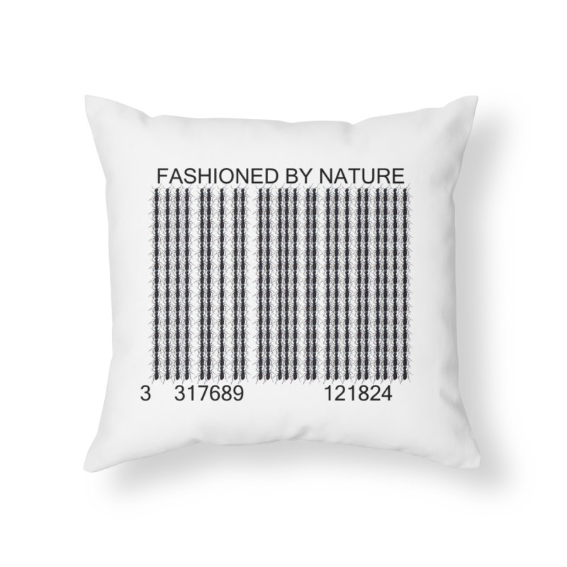 Ant Barcode Home Throw Pillow by FashionedbyNature's Artist Shop