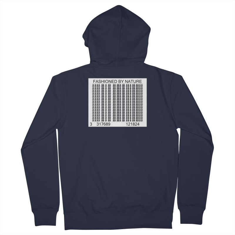 Ant Barcode Men's Zip-Up Hoody by FashionedbyNature's Artist Shop