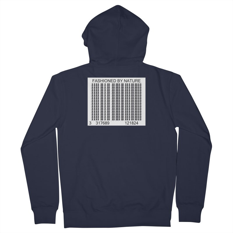 Ant Barcode Women's French Terry Zip-Up Hoody by FashionedbyNature's Artist Shop