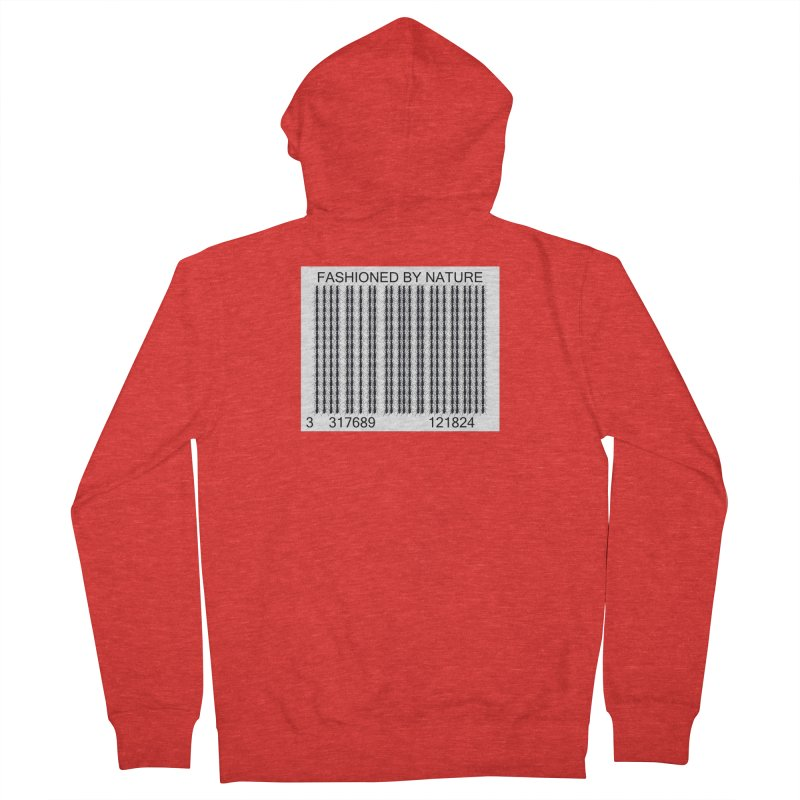 Ant Barcode Men's Zip-Up Hoody by All Fashioned by Nature Artist Shop
