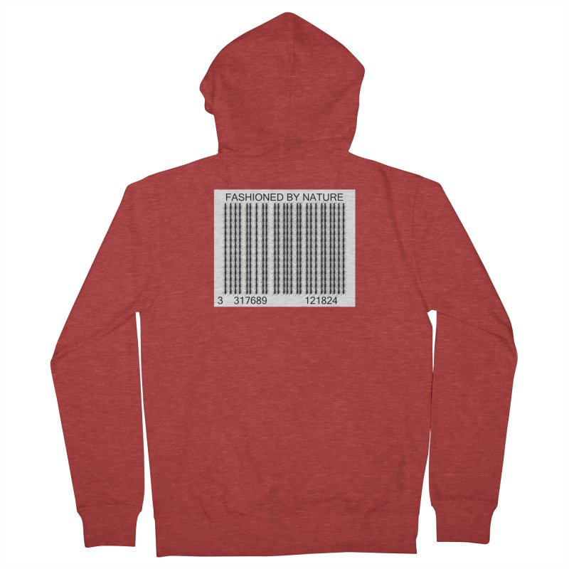 Ant Barcode Men's French Terry Zip-Up Hoody by FashionedbyNature's Artist Shop