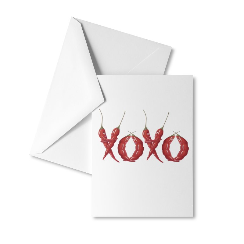 XOXO Chilies Accessories Greeting Card by All Fashioned by Nature Artist Shop