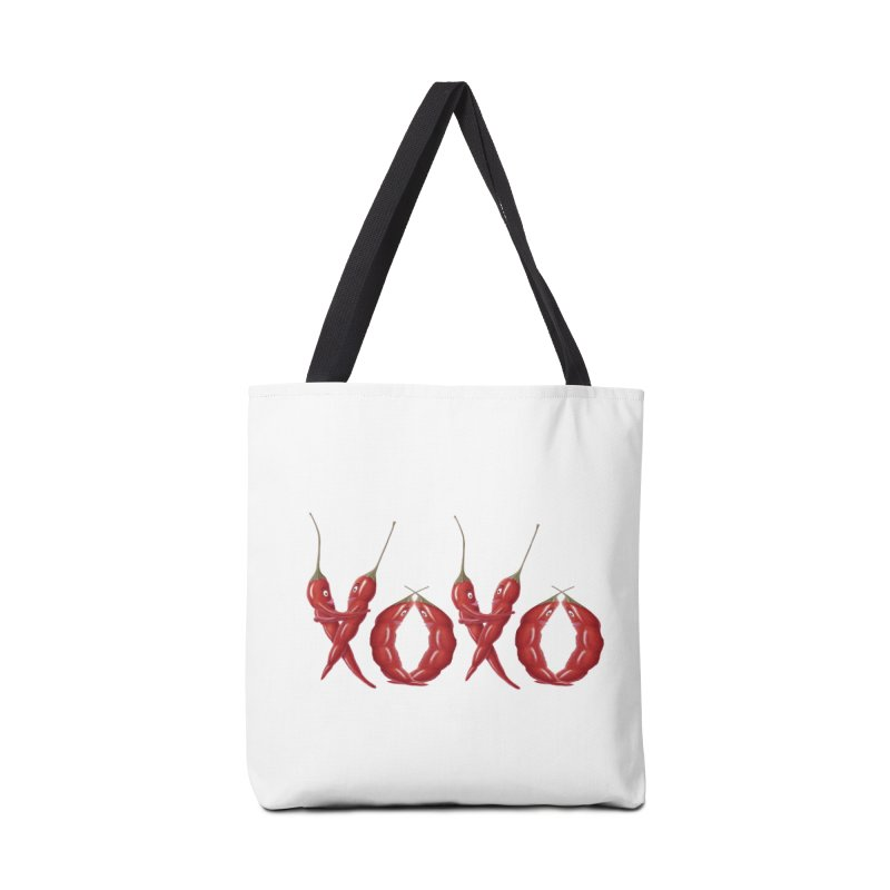 XOXO Chilies Accessories Tote Bag Bag by FashionedbyNature's Artist Shop