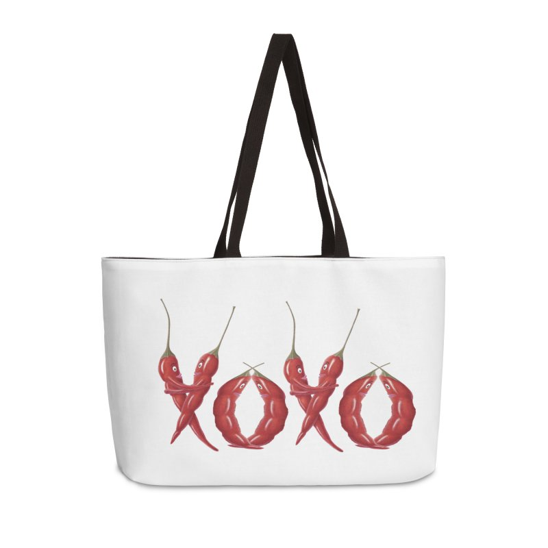 XOXO Chilies Accessories Weekender Bag Bag by FashionedbyNature's Artist Shop