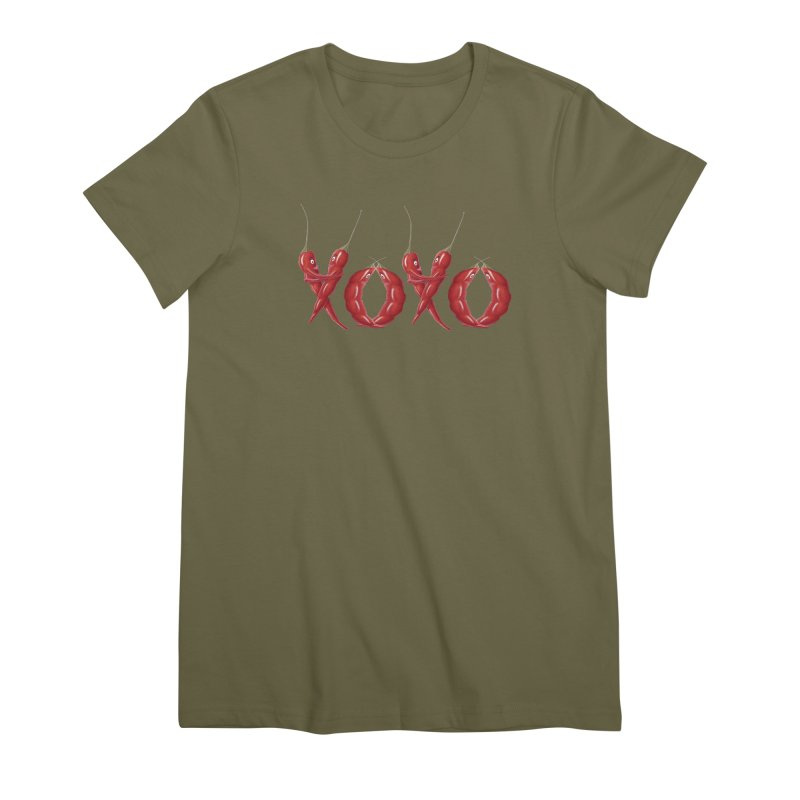 XOXO Chilies Women's Premium T-Shirt by FashionedbyNature's Artist Shop