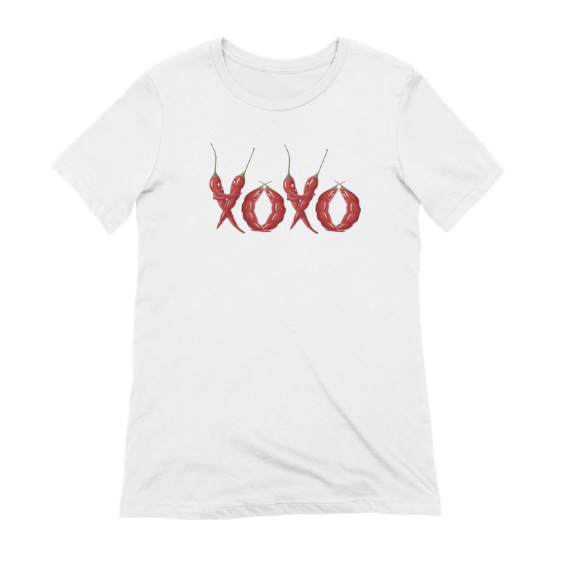 XOXO Chilies Women's Extra Soft T-Shirt by FashionedbyNature's Artist Shop
