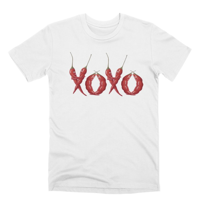 XOXO Chilies Men's Premium T-Shirt by FashionedbyNature's Artist Shop