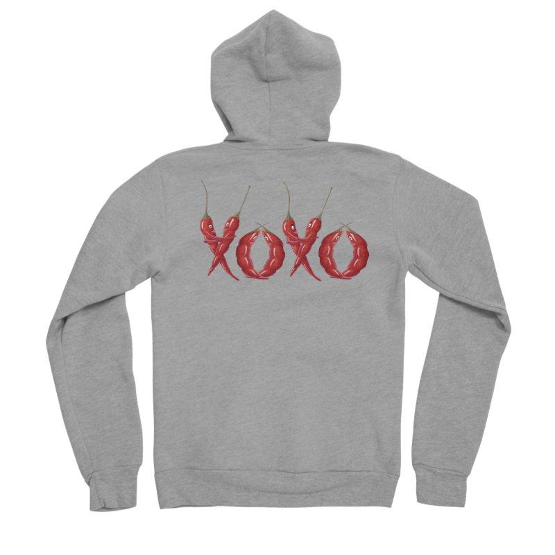 XOXO Chilies Women's Sponge Fleece Zip-Up Hoody by FashionedbyNature's Artist Shop