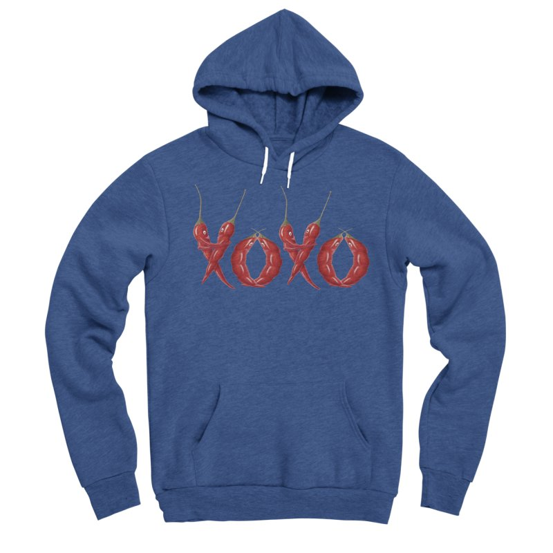 XOXO Chilies Men's Sponge Fleece Pullover Hoody by FashionedbyNature's Artist Shop