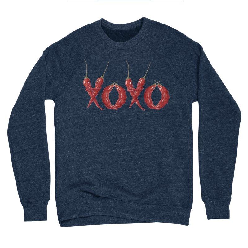 XOXO Chilies Men's Sponge Fleece Sweatshirt by FashionedbyNature's Artist Shop