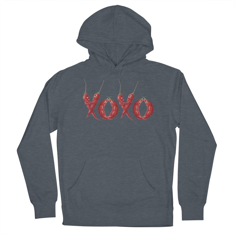 XOXO Chilies Men's French Terry Pullover Hoody by FashionedbyNature's Artist Shop