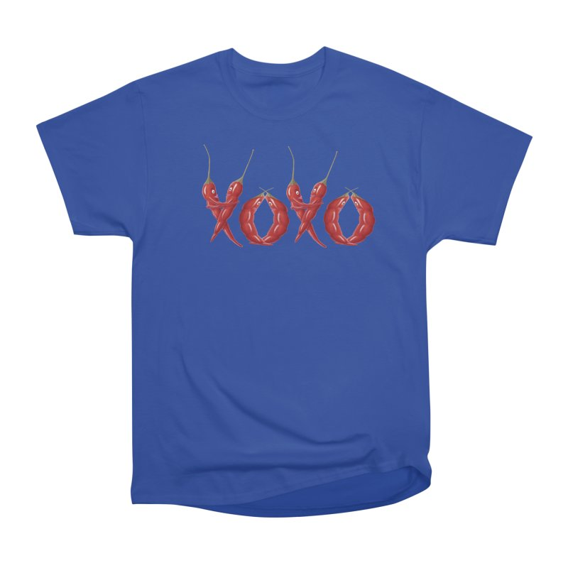 XOXO Chilies Women's Heavyweight Unisex T-Shirt by FashionedbyNature's Artist Shop
