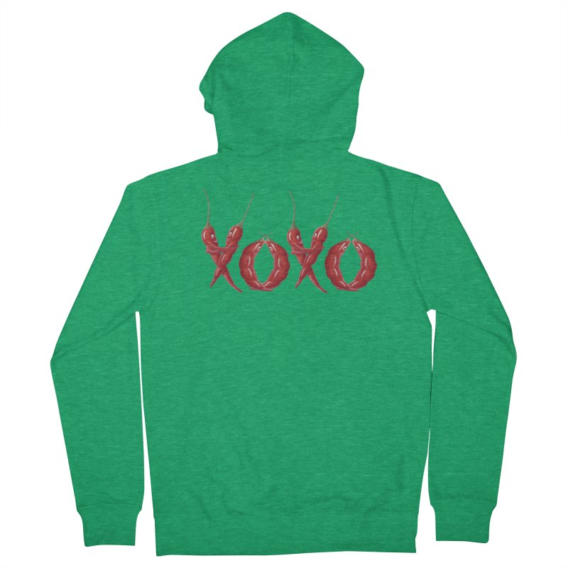 XOXO Chilies Women's Zip-Up Hoody by All Fashioned by Nature Artist Shop