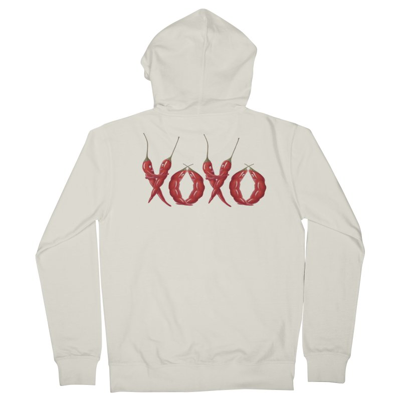 XOXO Chilies Women's French Terry Zip-Up Hoody by FashionedbyNature's Artist Shop
