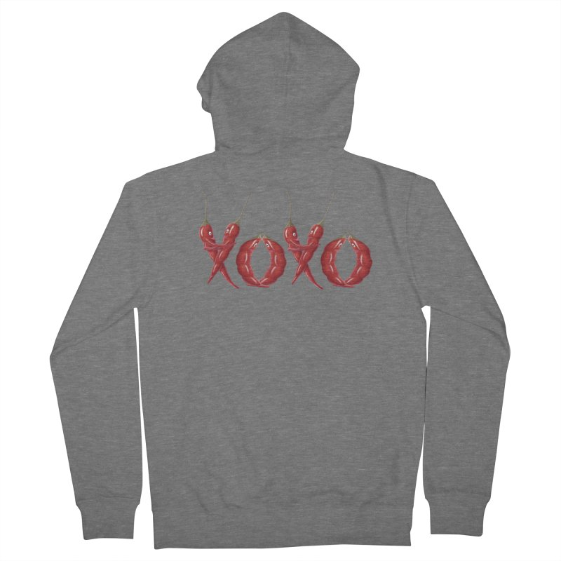 XOXO Chilies Men's Zip-Up Hoody by All Fashioned by Nature Artist Shop