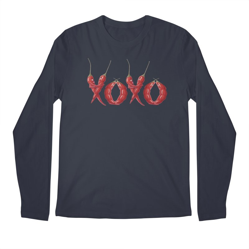 XOXO Chilies Men's Regular Longsleeve T-Shirt by FashionedbyNature's Artist Shop