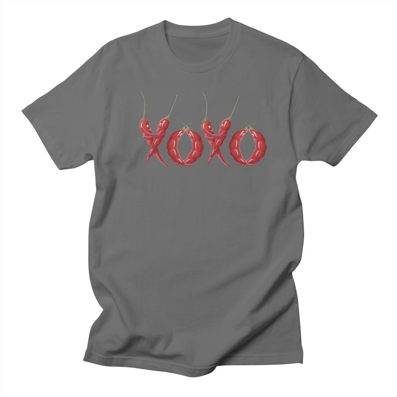 XOXO Chilies Men's T-Shirt by All Fashioned by Nature Artist Shop