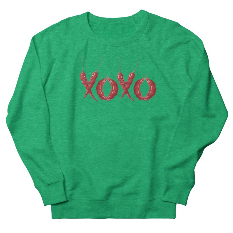 XOXO Chilies Women's French Terry Sweatshirt by FashionedbyNature's Artist Shop